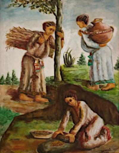 1. La femme travaille dans les champs